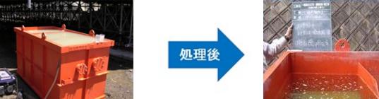 ノッチタンクでの処理事例(アルカリ濁水)