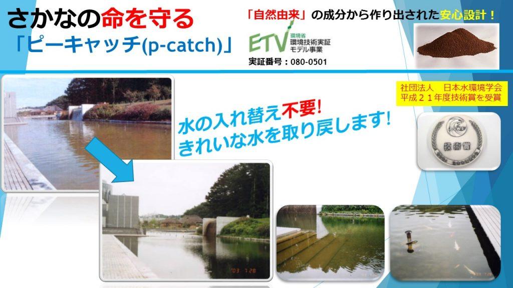 魚の命を守る池の浄化システム「ピーキャッチ」